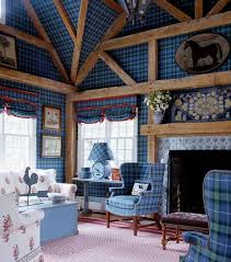 how to tartan work in a living room