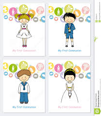 First Communion Invitations Cards Set First Communion Stock Vector Image 40036541