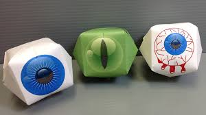 print your own origami eyeballs for halloween youtube