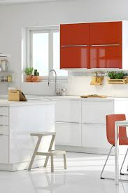 Renew Your Kitchen Cabinets by Create A Focal Point And Add A Little Zest To A White Kitchen