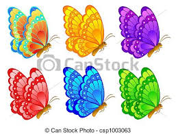 coloring pictures of small butterflies small cartoon butterfly color illustration stock complete pictures