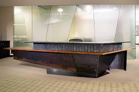 Granite Reception Desk Reception Desk Steel Bronze Granite Wood 18 X8 X3 5 H Jpg 864 576
