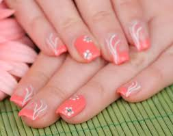 nice simple flower nail designs make for the ideal girly result