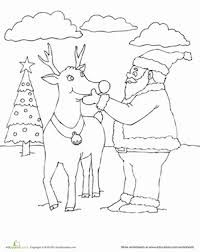 christmas scenes christmas coloring pages education