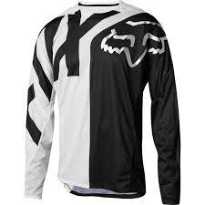 enlarged image demo fox youth demo long sleeve jersey white black bike24