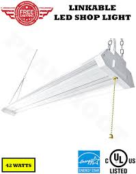 linkable led shop lights 4 ft 42w ul es linkable led shop light with 4500 lumens in 5000k