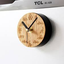 Personalized Picture Clocks Super Creative Wood Personalized Fun Kitchen Clock Fridge Magnet