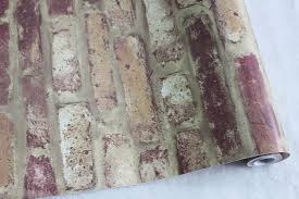 Peel And Stick Photo Wall Faux Brick Peel Stick Wallpaper Rusty Red Brown Purple Self