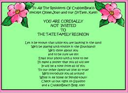 family reunion favors family reunion invitations