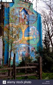 wall mural of adventure playground on side of house by slade stock photo wall mural of adventure playground on side of house by slade garden in brixton south london