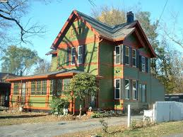 maple leaf warm green bungalow paint for house exterior also
