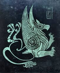 twisted griffin in scythian tattoo style by diseann on deviantart