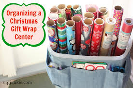 gift wrap storage ideas organizing a christmas gift wrap center for an organized season