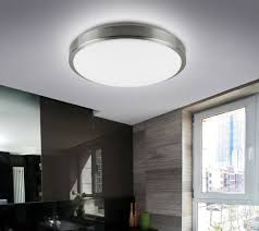 Ceiling Mount Led Fixture by Brushed Nickel Flush Mount Led Can Light Fixture Modern Place