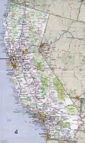 Interstate Map Of The United States by Large Detailed Road And Highways Map Of California State With All