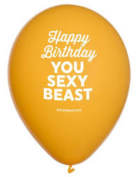 helium delivery happy birthday you beast balloon by winkballoons