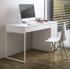 bureau informatique blanc laqué bureau ordinateur blanc laqué bureau console coulissant lepolyglotte