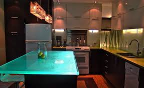 Lighting For Small Kitchen by Bathroom Kitchen Island With Glass Countertops And Bar Stool Plus