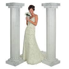 amazon com 6 u0027 marble look fluted columns pillars 2pc set wedding