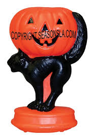 decorations from general foam plastics corp black cat