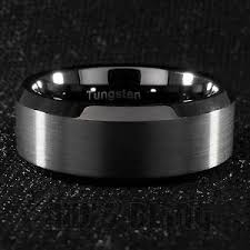 black wedding band 8mm tungsten carbide black wedding band engagement bridal ring