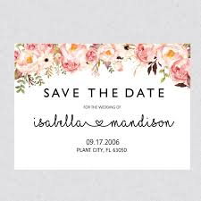 save the date templates printable save the date template card floral save the date