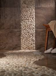 this zen bathroom with the river rocks is amazing bathrooms