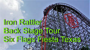 6 Flags Coupons Iron Rattler Roller Coaster Back Stage Tour Six Flags Fiesta