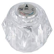 danco knob handle in clear for delta tub and shower faucets 88439