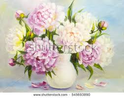 Bouquet Of Flowers In Vase Oil Painting Flowers Stock Images Royalty Free Images U0026 Vectors