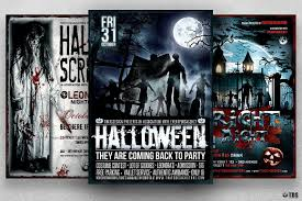 free halloween flyer background halloween flyer templates bundle v6 for photoshop