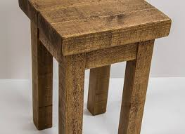 Pine Side Table Rustic Wooden Pine Side Table Bedside Coffee Table Plant Stand
