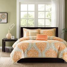navy blue and orange duvet cover sweetgalas