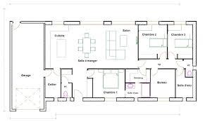 plan maison simple 3 chambres plan de maison plain pied 150 m2 plans maisons con plan de maison
