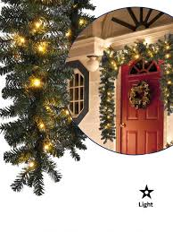 garland with lights clearance lowes at