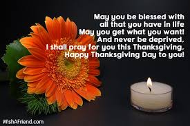 may you be blessed with all thanksgiving wishes