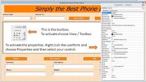 Microsoft Excel Address Book Template Excel Phone Book Contact Manager Excel 2010 Pc Learning