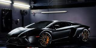 orange and black lamborghini matte black aventador on vellano wheels the on lambocars com