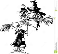 halloween clipart free black and white halloween scarecrow cartoon illustration stock photo image 33724040