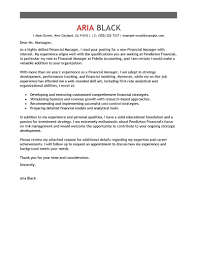 collection of solutions sample of finance manager cover letter in