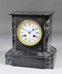 Mantle Piece Clock A 19th Century French Black Marble Cased Mantel Clock By Japy