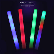 20pcs lot led foam stick multicolor changing flash batons 48cm rgb