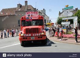 2008 tour de france caravan coverted american bus stock