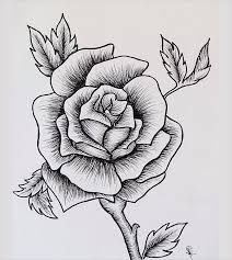 design flower rose drawing pretty design drawn rose roses step by pictures flower and hearts