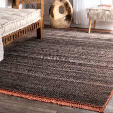 Modern Flat Weave Rugs Nuloom Modern Flatweave Striped Grey Cotton And Wool Handmade