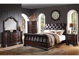 Sheffield Bedroom Furniture Sheffield 5pc Sleigh Bed Set Upholstered Headboard Footboard