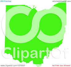 State Map Of Ohio by Clipart Of A Lyme Disease Awareness Lime Green Colored Silhouetted
