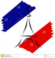 stylized french flag and eiffel tower stock photo image 20128770