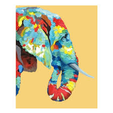 online shop indian elephant cartoon animal oil painting good