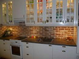 Brick Backsplash In Kitchen Brick Look Backsplash 44h Us